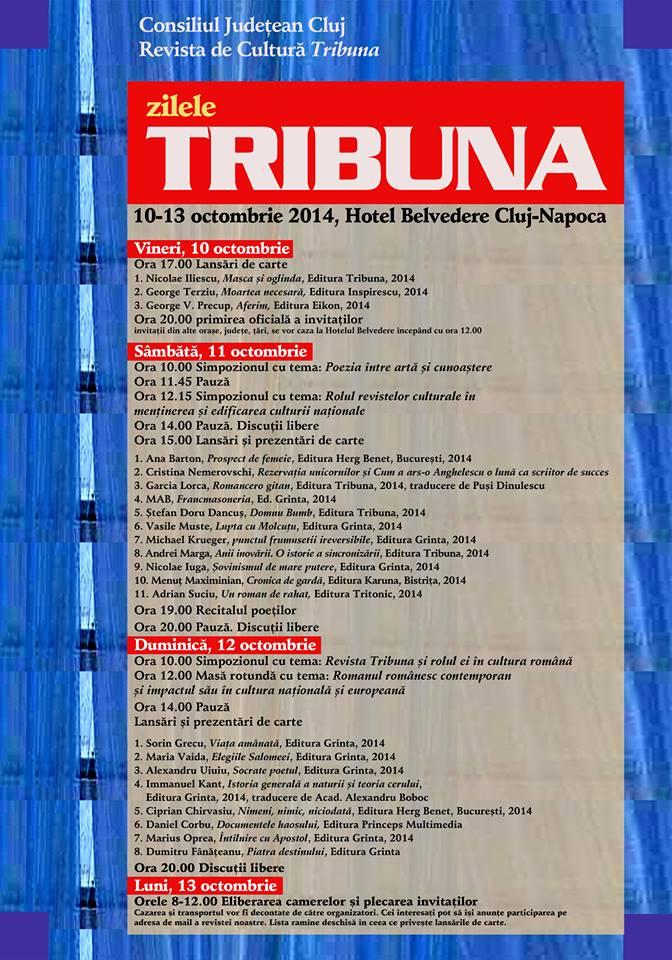 """Zilele Revistei de cultură """"Tribuna 2014"""""""
