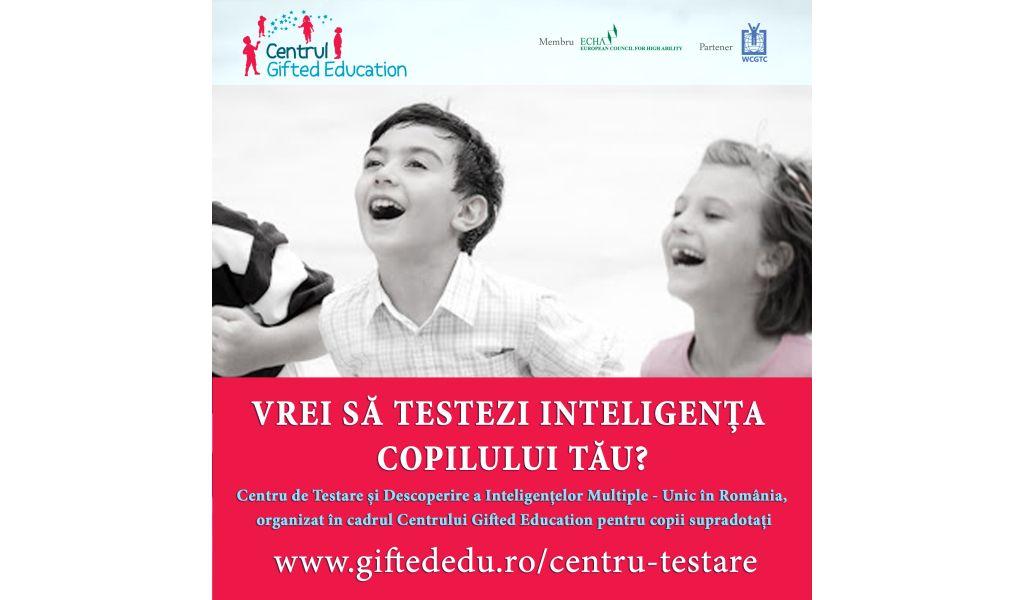 Testări IQ la nivel internațional pentru selecția copiilor supradotați
