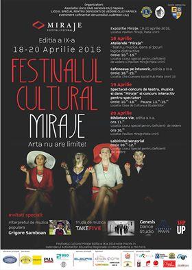 Festivalul Cultural Miraje, la Liceul Special pentru Deficienţi de Vedere din Cluj-Napoca