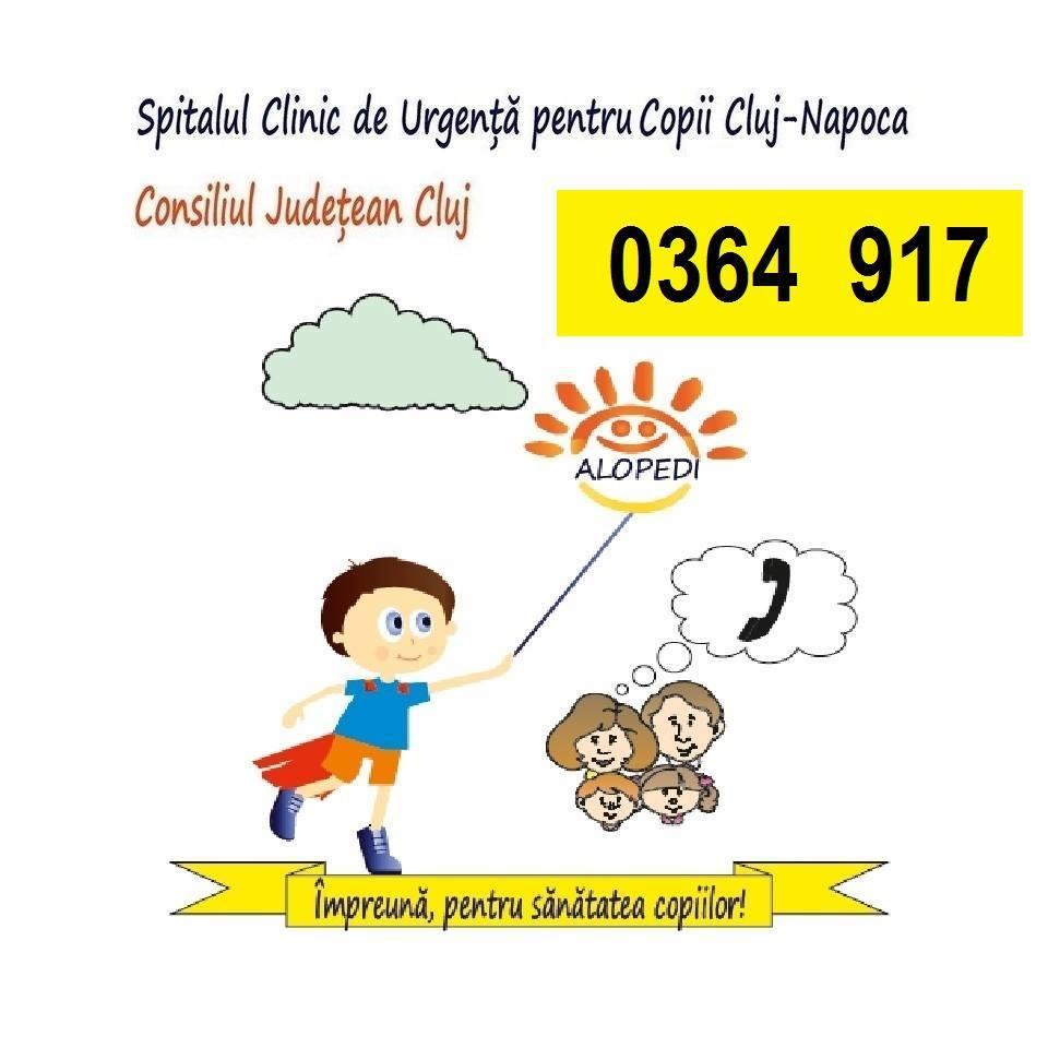 ALOPEDI, serviciu gratuit de sfat medical asigurat de Spitalul Clinic de Urgenţă pentru Copii Cluj