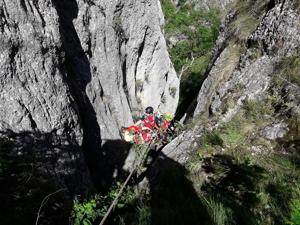 Exercițiu de salvare în Cheile Turzii
