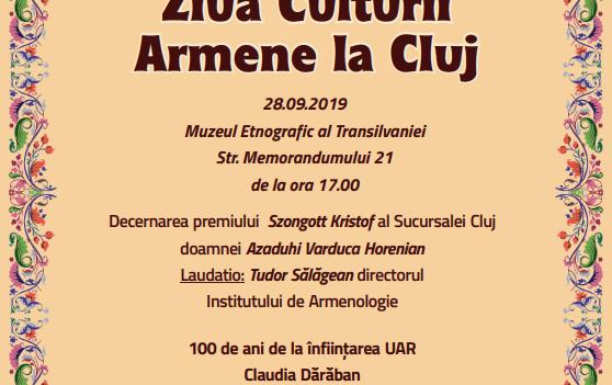 Ziua Culturii Armene, în Cluj-Napoca