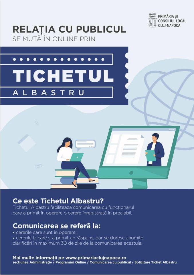 Primăria Cluj-Napoca lansează Tichetul Albastru - un nou serviciu de comunicare directă cu cetățeanul