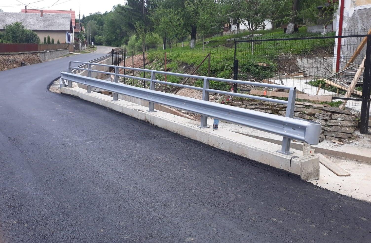 Consiliul Județean Cluj a finalizat construcția podului din localitatea Văleni