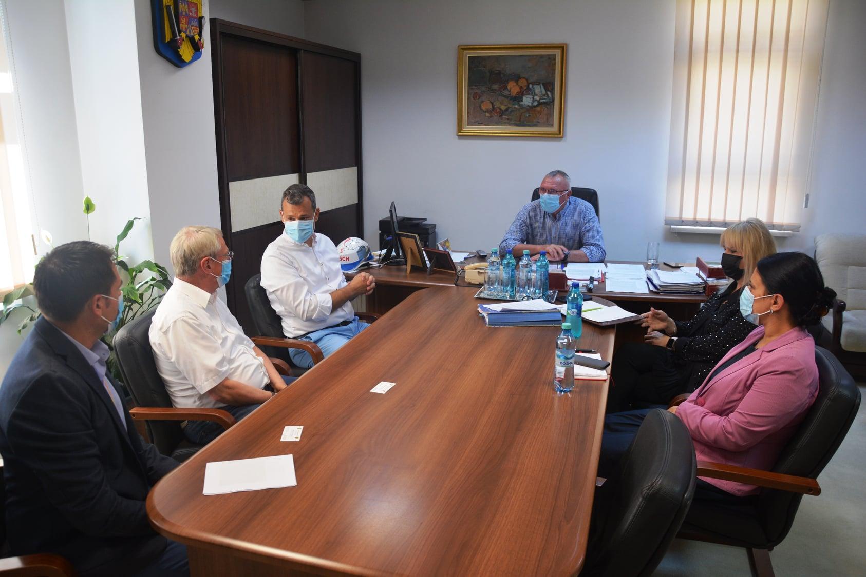 Delegație economică, în vizită la Consiliul Județean Cluj
