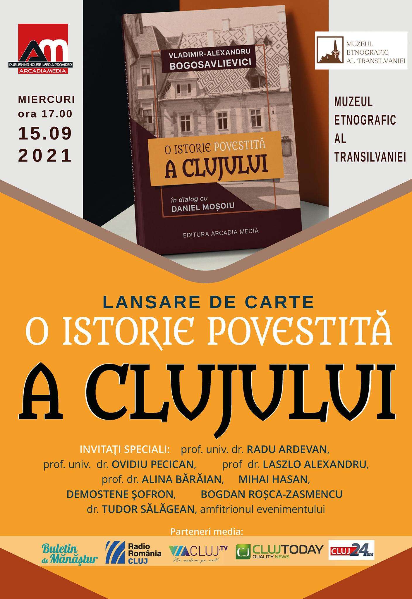 """Lansare de carte - """"O istorie povestită a Clujului"""""""
